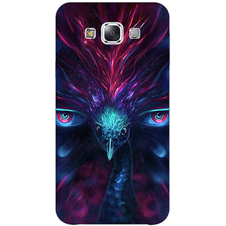 1 Crazy Designer Paisley Beautiful Peacock Back Cover Case For Samsung Galaxy E7 C421594