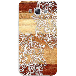 1 Crazy Designer White Brown Doodle Pattern Back Cover Case For Samsung Galaxy A7 C430212