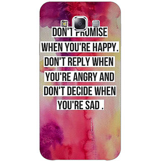 1 Crazy Designer Wise Quote Back Cover Case For Samsung Galaxy E7 C421144