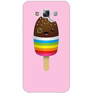 1 Crazy Designer Rainbow Icecream Back Cover Case For Samsung Galaxy E7 C421146