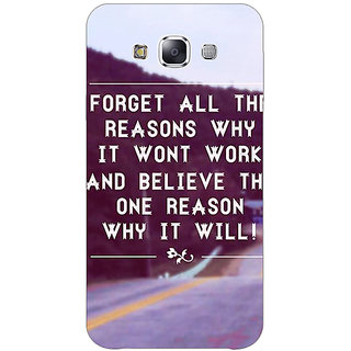 1 Crazy Designer Wise Quote Back Cover Case For Samsung Galaxy E7 C421158