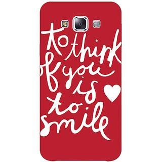 1 Crazy Designer Quotes Smile Back Cover Case For Samsung Galaxy E7 C421170