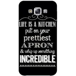 1 Crazy Designer Chef Quote Back Cover Case For Samsung Galaxy E7 C421203