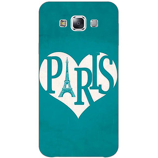 1 Crazy Designer Paris love Back Cover Case For Samsung Galaxy A7 C431404