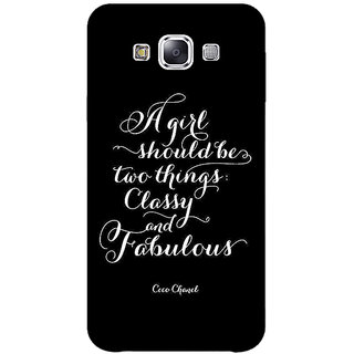 1 Crazy Designer Quote Back Cover Case For Samsung Galaxy A7 C431409
