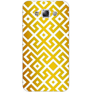 1 Crazy Designer Geometric Pattern Back Cover Case For Samsung Galaxy E7 C421418