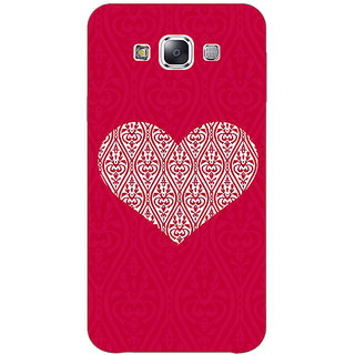 1 Crazy Designer Hearts Back Cover Case For Samsung Galaxy E7 C421425