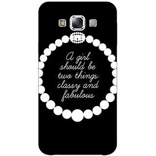 1 Crazy Designer  Back Cover Case For Samsung Galaxy E7 C421432