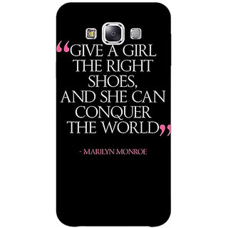 1 Crazy Designer Quote Back Cover Case For Samsung Galaxy E7 C421470