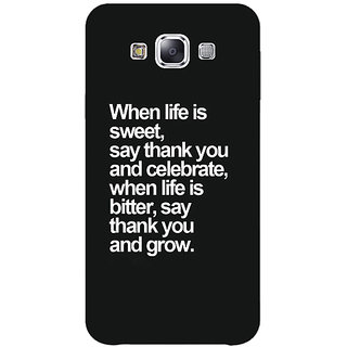 1 Crazy Designer Quote Back Cover Case For Samsung Galaxy E7 C421473