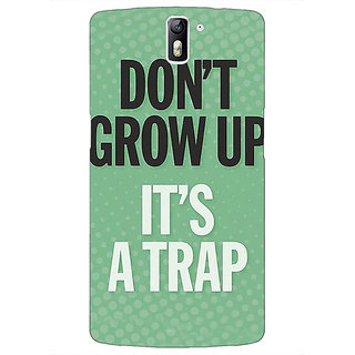 1 Crazy Designer Quote Back Cover Case For OnePlus One C411348