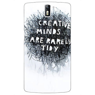 1 Crazy Designer Quote Back Cover Case For OnePlus One C411356