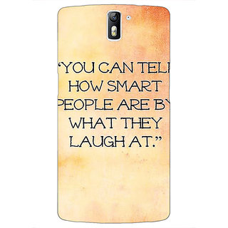 1 Crazy Designer Quote Back Cover Case For OnePlus One C411357