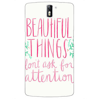 1 Crazy Designer Beautiful Quote Back Cover Case For OnePlus One C411367