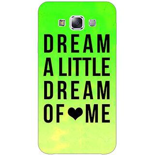 1 Crazy Designer Dream Love Back Cover Case For Samsung Galaxy E5 C440092
