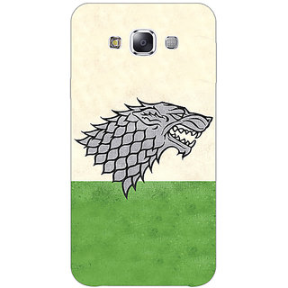 1 Crazy Designer Game Of Thrones GOT House Stark  Back Cover Case For Samsung Galaxy E5 C440120