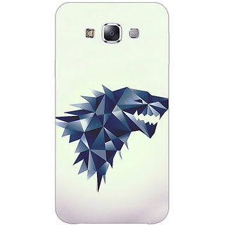 1 Crazy Designer Game Of Thrones GOT House Stark  Back Cover Case For Samsung Galaxy E5 C440129