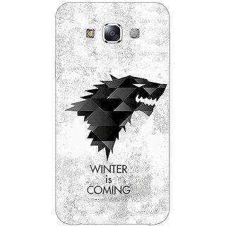 1 Crazy Designer Game Of Thrones GOT House Stark  Back Cover Case For Samsung Galaxy E5 C440130
