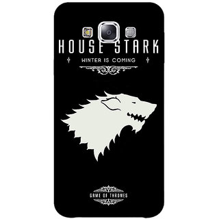 1 Crazy Designer Game Of Thrones GOT House Stark  Back Cover Case For Samsung Galaxy E5 C440132
