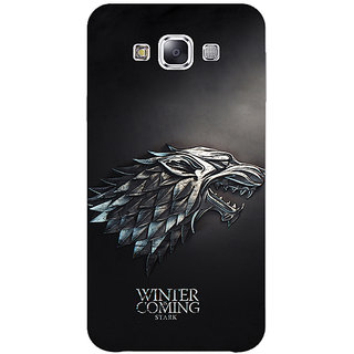 1 Crazy Designer Game Of Thrones GOT House Stark  Back Cover Case For Samsung Galaxy E5 C440134