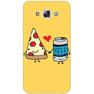 1 Crazy Designer Pizza Loves Beer Back Cover Case For Samsung Galaxy A7 C431141