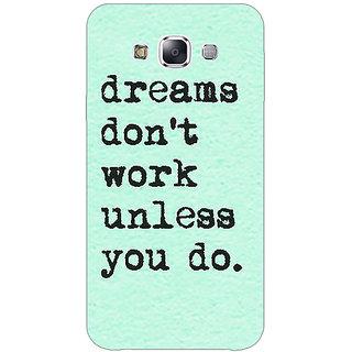 1 Crazy Designer Dream Quotes Back Cover Case For Samsung Galaxy A7 C431185