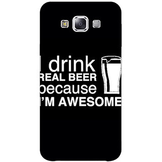 1 Crazy Designer Beer Quote Back Cover Case For Samsung Galaxy A7 C431209