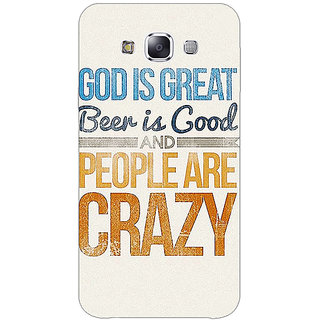 1 Crazy Designer Beer Quote Back Cover Case For Samsung Galaxy A7 C431215