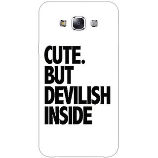 1 Crazy Designer Quote Back Cover Case For Samsung Galaxy A7 C431445