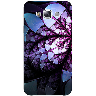 1 Crazy Designer Abstract Flower Pattern Back Cover Case For Samsung Galaxy E7 C421505