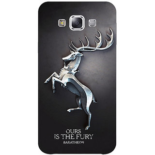 1 Crazy Designer Game Of Thrones GOT House Baratheon  Back Cover Case For Samsung Galaxy E5 C440169