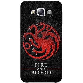 1 Crazy Designer Game Of Thrones GOT House Targaryen  Back Cover Case For Samsung Galaxy E5 C440200
