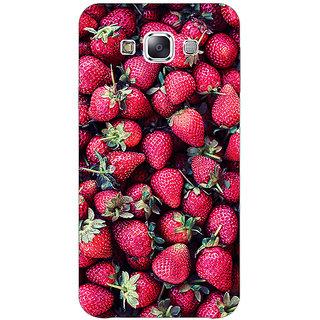 1 Crazy Designer Strawberry Pattern Back Cover Case For Samsung Galaxy E5 C440201