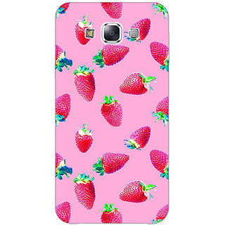 1 Crazy Designer Strawberry Pattern Back Cover Case For Samsung Galaxy E5 C440203