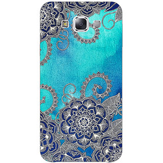 1 Crazy Designer Blue Doodle Pattern Back Cover Case For Samsung Galaxy E5 C440209