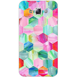 1 Crazy Designer Hexagon  Pattern Back Cover Case For Samsung Galaxy E5 C440222
