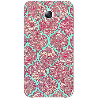 1 Crazy Designer Pink Morroccan Pattern Back Cover Case For Samsung Galaxy E5 C440242