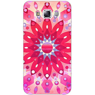 1 Crazy Designer Red Flower Pattern Back Cover Case For Samsung Galaxy A7 C430256