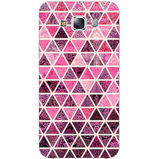 1 Crazy Designer Red Triangles Pattern Back Cover Case For Samsung Galaxy A7 C430266