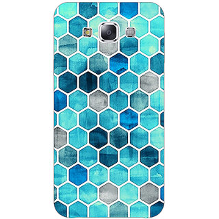 1 Crazy Designer Blue Hexagons Pattern Back Cover Case For Samsung Galaxy A7 C430270