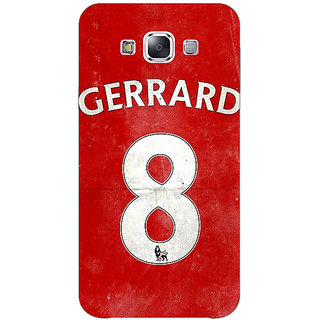 1 Crazy Designer Liverpool Gerrard Back Cover Case For Samsung Galaxy E5 C440546