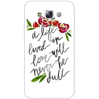 1 Crazy Designer Quotes Back Cover Case For Samsung Galaxy A7 C431195