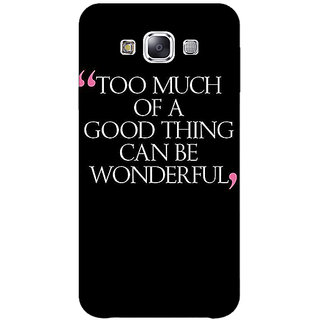 1 Crazy Designer Quote Back Cover Case For Samsung Galaxy A7 C431292