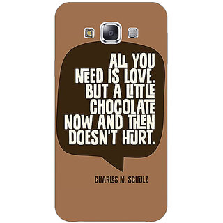 1 Crazy Designer Chocolate Love Quote Back Cover Case For Samsung Galaxy A7 C431306