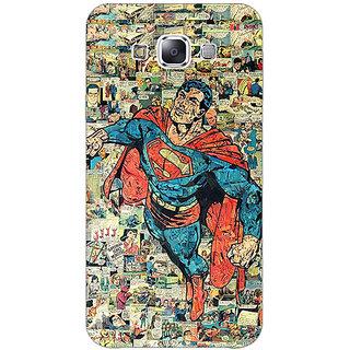 1 Crazy Designer Superheroes Superman Back Cover Case For Samsung Galaxy E5 C440038