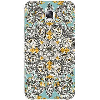 1 Crazy Designer Vintage Floral Pattern Back Cover Case For Samsung Galaxy E5 C440262