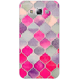 1 Crazy Designer Pink Grey Moroccan Tiles Pattern Back Cover Case For Samsung Galaxy E5 C440293