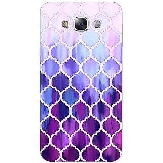 1 Crazy Designer White Purple Moroccan Tiles Pattern Back Cover Case For Samsung Galaxy E5 C440297