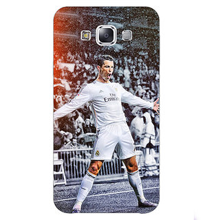 1 Crazy Designer Cristiano Ronaldo Real Madrid Back Cover Case For Samsung Galaxy E5 C440306