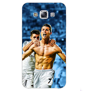 1 Crazy Designer Cristiano Ronaldo Real Madrid Back Cover Case For Samsung Galaxy E5 C440314